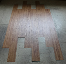 Diy vinyl tile installation again infill the gaps and holes and level with feather finish to get your final subfloor surface in preparation to lay your new tiles as outlined in the solutioingenieria Gallery