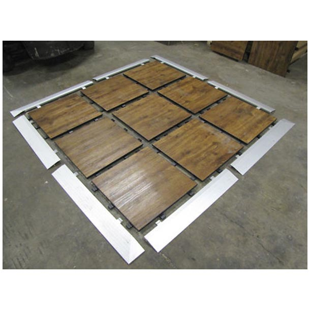 5.29sqm Portable Flooring, Dance Floor, Demountable Flooring. Wood Look  $486.19 Complete